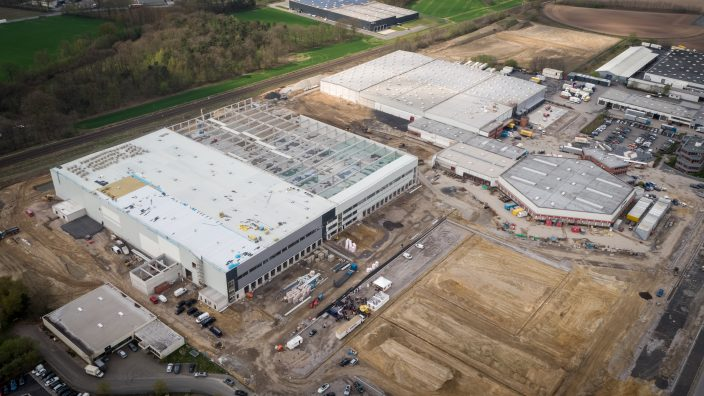 The logistics centre is being built at the home base of the Fiege Group.